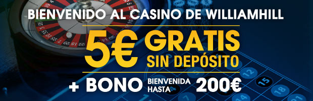 William Hill Casino: Bono sin deposito 5?