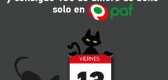 Paf Casino: Bono de 13€ si depositas el viernes 13