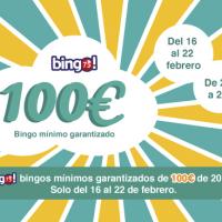 Bingo Tombola: Del 16 al 22 de Febrero el bingo75 mínimo garantizado de 100€