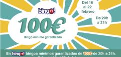 Bingo Tombola: Del 16 al 22 de Febrero el bingo75 m?nimo garantizado de 100?