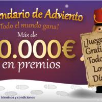 Tombola: 10000€ en premios y 5€ gratis del 1 al 24 de diciembre