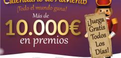 Tombola: 10000? en premios y 5? gratis del 1 al 24 de diciembre